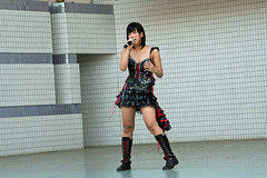 Live concert in the open-air stage of Yoyogi Park 01 (Umberto Luparelli) Tags: music girl rock tokyo shibuya