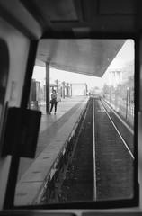 the wait is over (JEO Photography) Tags: film window subway virginia nikon metro platform va subte wait nikonn90s alexandriava filmphotography arista filmisnotdead aristapremium400 believeinfilm