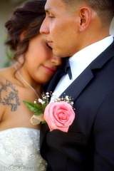 Wedding (mellamoangee) Tags: wedding woman man flower love rose tattoo photography groom bride couple dress marriage suit brideandgroom weddingphotography angiegonzalez