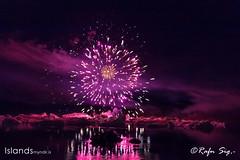 Firework at Glacier Lagoon