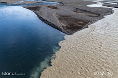 Clear and glacier rivers meet and get mixed