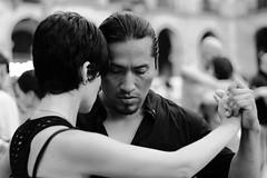 DSC00801 (jorgeaq) Tags: barcelona bw dance dancers danza sony bcn tango baile plazareal pasin bailarines sonyalpha700