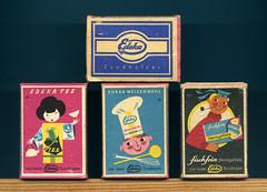 Streichholzschachteln mit Edeka Werbung (altpapiersammler) Tags: old vintage logo box alt geisha kimono werbung brand packag