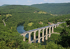 TGV (tau280) Tags: summer france color colors saint speed train canon landscape eos photo high frankreich foto image sommer july rail railway zug trains viaduct claude juli bild szin szn kp bahn railways francia tgv sncf bourg tj zge viadukt nyr bourgenbresse saintclaude vonat bresse 2013 jlius bahnen franciaorszg fot vast bolozon 60d cize vonatok szinek bundesbahnen vasutak etriebwagen motorvonat szerelvny etreibwagen nagysebessg