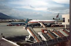 SPAIN 1984 (streamer020nl) Tags: airplane airport spain platform espana 1984 boeing douglas malaga spanje airfield iberia dc10 720b martinair conair llh phmbt louiselh