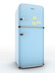 geladeira antiga com recados na porta (tigercop2k3) Tags: brazil gelo azul casa 3d agua render retro porta perspectiva freezer ilustrao cozinha calor domestica geladeira brilho leite eletro recado cromado lembrete isolado