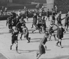 Running, walking and having fun (theirhistory) Tags: school boys kids children shoes break play jacket cap junior shorts juniors playtime infants wellies railings primary