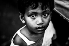 (Garry Andrew Lotulung) Tags: portrait bw monochrome smile kids canon project indonesia blackwhite child portfolio papua canon7d