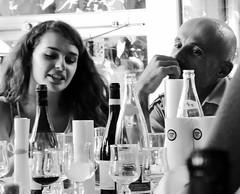 Empty bottles (ceciledelestre) Tags: wedding portrait blackandwhite bw woman man face glasses bottle gesicht noiretblanc empty leer femme portrt nb panasonic meal mann frau mariage flasche ehe homme visage verres vide bouteille repas heirat mahlzeit weinglas schwarzweis dmctz40