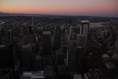 Downtown Seattle from Columbia tower