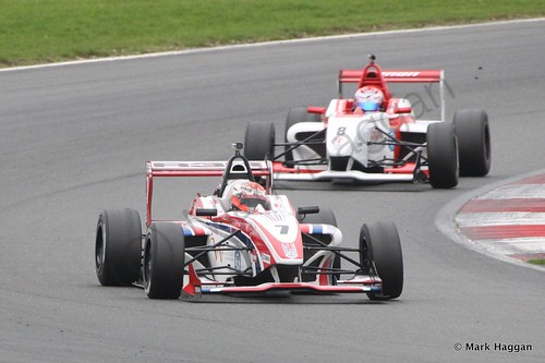 BRDC F4 Race 2 at Snetterton, October 2014
