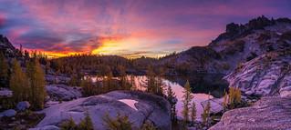 Enchantments Leprechaun Lake Sunrise Pano