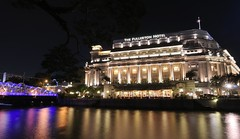 Fullerton Hotel At Night (a.rutherford1) Tags: city urban night digital dark lowlight nikon singapore asia forsale ambientlight tropical neonlights afterdark slowshutterspeed d300 republicofsingapore exposuretime15sec modelnikond300 photosfromflickrgmailcom fnumberf14 lens1224mmf4040