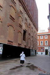 Once was a Old Power Plant (Jocey K) Tags: madrid sky people building wet clouds spain caixaforum archtiecture industrialarchitecture caixaforummuseummadrid