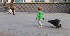 going shopping (helenoftheways) Tags: children shoppingtrolley street candid people redhead pavement catford london uk freeassociation