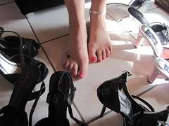 Girls best friends (beside my dildo) ('carostoes') Tags: feet foot toes highheels heels pedicure soles nylon footfetish footworship sexyfeet