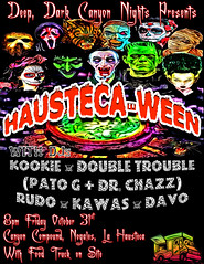Hausteca-Ween (Thought Knots Design) Tags: poster graphic halloween la hausteca nogales mexico canyon compound monster monsters squad thought knots design thoughtknots spooky costume party rave dance beats electronic tkd brand logo create creative creatively creation artwork portfolio catalogue photography future funk pop colours colors color colour thoughtknotsdesign thoughtnautical nautical life live natural antigonish atlantic ocean east coast maritime grime nasty tasty free freedom retro canada canadian novascotia artist photo art abstract surreal