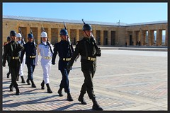 Ataturk Mausoleum Ankara (SleeplessNights2010) Tags: history turkey ataturk military mausoleum soldiers guards turks ankara
