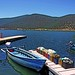 Macedonia, Florina, lake Small Prespa, boat at the jetty, Greece #Μacedonia
