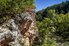 Turner Falls in October (early days) Tags: park camp fall oklahoma water pool leaves creek swim canon river outdoors waterfall rocks stream angle wide canyon hike falls honey 7d cave geology turner 1635mm