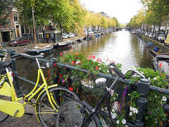 Fall in Amsterdam (Stonebridge65) Tags: bridge fall amsterdam bicycle canal nikon capital nederland noordholland netherlanmds d5100