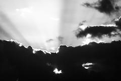 """""""Every cloud has a silver lining"""" (Nils5481) Tags: sky bw cloud sun white black nature natuur wolken rays lucht zwart wit sunbeam zonnestralen zonneschijn"""