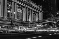 Grand Central Terminal (JB_1984) Tags: nyc newyorkcity blackandwhite bw usa ny newyork station mono unitedstates manhattan cab taxi midtown railwaystation lighttrails grandcentral grandcentralterminal 42ndstreet