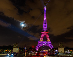 Eiffel Tower in Pink (Mido Bakr) Tags: light paris tower europe breast cancer eiffel month