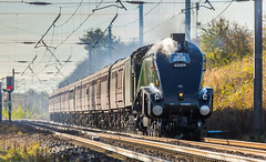 """A4 Pacific no 60009 """"Union of South Africa"""" Passes Gamston on 25-10-2014 with The Jubilee Requiem"""" Railtour to York (kevaruka) Tags: autumn cloud sun colour history sunshine clouds train canon october flickr colours dof cloudy rail railway trains historic steam 5d railtour frontpage britishrail steamengine nottinghamshire charter sunnyday steamtrain retford 2014 cloudyday networkrail 60009 unionofsouthafrica ef100400l gamston a4pacific railnetwork canon5dmk3 railcharter 5dmk3 5d3 5diii canon70200f28ismk2 canoneos5dmk3 ilobsterit"""