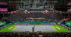 Sharapova vs Radwanska (otarboy79) Tags: canon drive women singapore stadium indoor tennis slice service volley wta backhand kallang forehand 2470f28 5dmk3