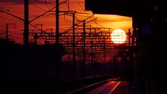 Lever de soleil en gare