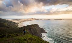 View towards Cape Maria van Diemen (loveexploring) Tags: capemariavandiemen capereinga farnorth newzealand northisland tasmansea tewerahibeach beach coast coastline person sea seascape sunset vista