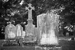 born, died (eb78) Tags: ma massachusetts theberkshires blackandwhite bw monochrome greyscale grayscale grave graveyard cemetery stockbridge newengland