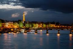 Pont des Arts - Paris (CreART Photography) Tags: paris night nightparis bridgesofparis pontalexandreiii pontdesarts zeiss 50mm