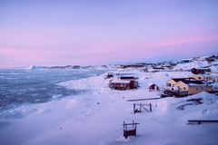 Quiet Morning (Atmospherics) Tags: greenland diskobay icescape ilulissat pinks morningsky predawn predawncolour icefjord ice greenlandwinter atmospherics arcticcircle arctic arcticcolour polar icecap