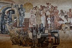 work, familly, homeland. (Wylf) Tags: soviet urss mozaika mosaic urbex cold war youri gagarine ussr hero urbexu history old