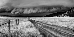 low clouds - Explore (Marvin Bredel) Tags: storm explore marvinbredel kellywyoming kelly wyoming mormonrow jacksonhole grandtetonnationalpark nikond500 road muddy clouds lowclouds blackandwhite bw blacktailbutte