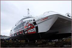 V2V Empress Front Quarter (Bill 3 Million views) Tags: v2v vancouver victoria ship vessel ferry fastferry catamaran v2vempress empress pointhope pointhopeshipyard refit vancouvertovictoria
