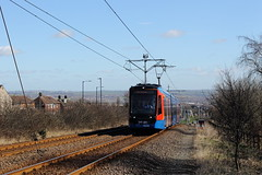 Stagecoach Supertram 399201, Birley 09/03/17 (TC60054) Tags: sheffield stagecoach supertram tramtrain rotherham stadler vossloh citylink 399 201 class tram train light rail lrv