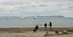 WightSails (Hodd1350) Tags: dorset avonbeach isleofwight yachts sails sailing sand rocks clouds beach people backs shore sea theneedles zeissbatis zeisslens sony a7rll