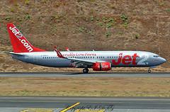 Boeing 737-85F G-GDFV Jet 2 (EI-DTG) Tags: planespotting aircraftspotting fnc funchalairport madeira funchal 13jul2015 boeing 737 boeing737 babyboeing busstopjet ggdfv jet2