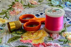 Macro Mondays - Cloth - Textiles (Chris Scopes) Tags: macromondays clothtextiles embroidery sequing material