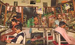 Nepali Barber Shop (Bajo Rogan) Tags: dulikhel himalaya hymalaya kathmandu nepal old rural vintage barbershop barber customers shop working job scissors pairofscissors comb mustach beard nepali nepalese