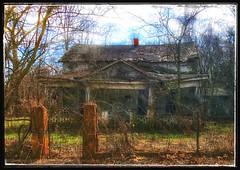 Beyond the fence... (Sherrianne100) Tags: gate fence rural deserted happyfencefriday dilapidated oldhouse ozarks missouri
