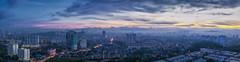 Sunrise panorama KL (haqiqimeraat) Tags: malaysia kualalumpur kl panorama sunrise clouds cityscape