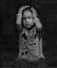 desperate little girl (still very busy, trying to catch up) Tags: bw blackandwhite nepal nepali nepaligirl streetphotography bhaktapur
