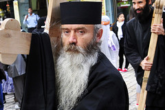 GOOD FRIDAY (BoazImages) Tags: jerusalem russianorthodoxchurch priest serbianpriest portrait face faces boazimages oldcity viadolorosa cross documentary photojournalism