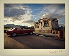 Franks Diner 5 (gpholtz) Tags: diorama miniatures 118 diecast 1967 mustang