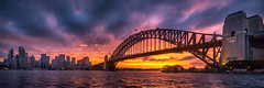 The Bridge (explore 5/4/17) (Daryl Kelly) Tags: red bridge water river landscape city sunset cloudy hdr sydneyharbourbridge newsouthwales australia nikond800e nikkor1424mmf28 darylkelly