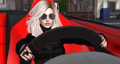 Cosmic Girl (Opale Lily) Tags: lfe ninety exile projectk secrets blond car drive red black minimal